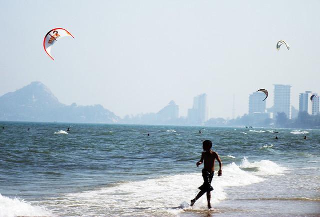 Kites and Kids on Hua Hin Beach