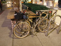 Bikes outside Whole Foods