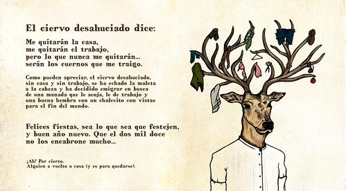 El ciervo desahuciado - Felicitación