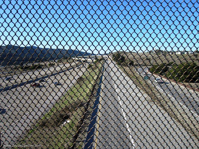 Bike Path crossing 280 Freeway, San Mateo, CA