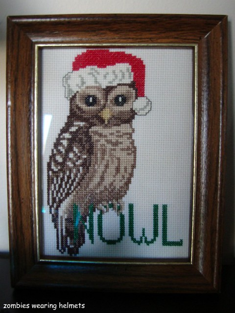 Christmas owl cross stitch