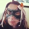 Tonights NYE Masquerade mask done by Jellibat