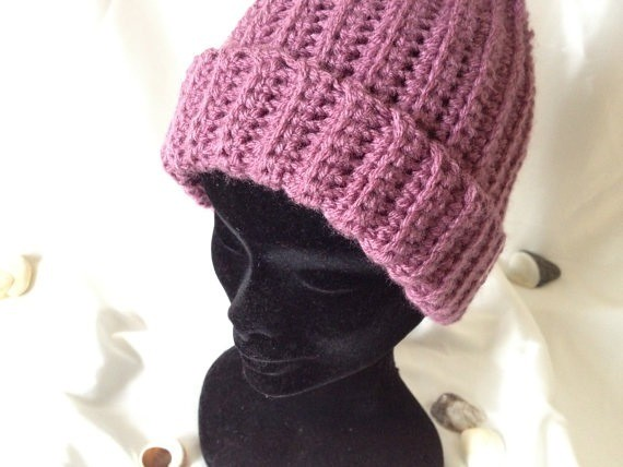 Crochet Ribbed Hat : Womens Adult Plum Pink Crochet Ribbed Hat Flickr - Photo Sharing!