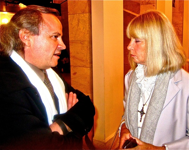 Curator of the Musee Picasso Antibes and Caroline Graham