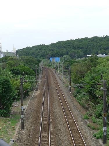 楊梅俯瞰的鐵道