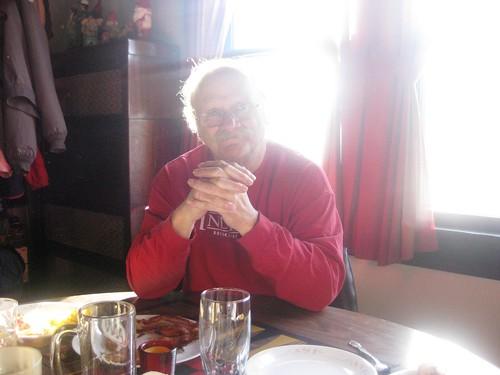 Grandpa @ breakfast