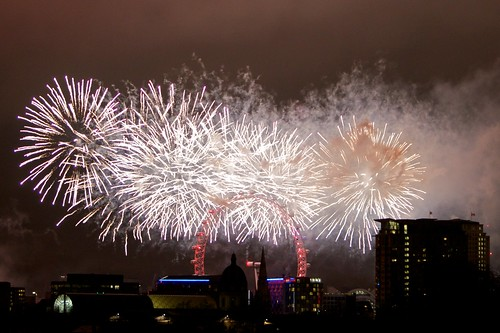 NYE 2011 London Fireworks