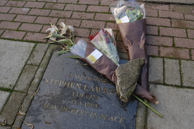 Stephen Lawrence memorial, 3 January 2012