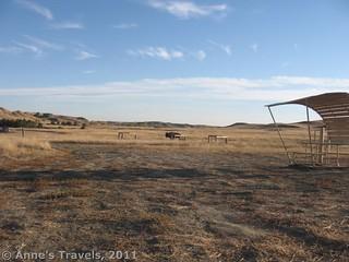 Free campground in Badlands National Park, South Dakota