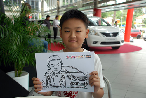 Caricature live sketching for Tan Chong Nissan Almera Soft Launch - Day 1 - 23