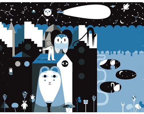 "preview. illustration for Timbuktu Magazine - "" The night issue"""