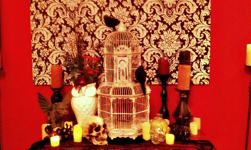 Tatum took a goodly chunk of her wedding decor and made a modern Gothic hall