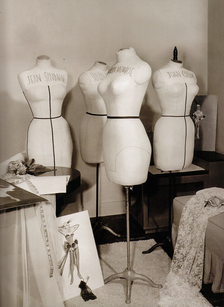 Mannequins at Travilla's studio
