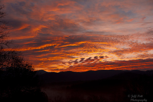 trees red sky orange mountains yellow fog clouds sunrise canon fire nc mark ii 5d fiery weaverville