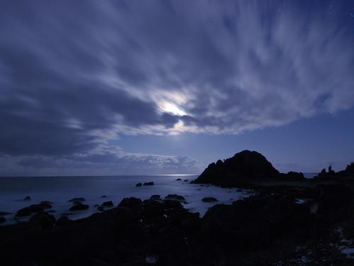 moon japan lumix aomori hachinohe moonlight g3 seashore 海岸 月 月光 月明かり