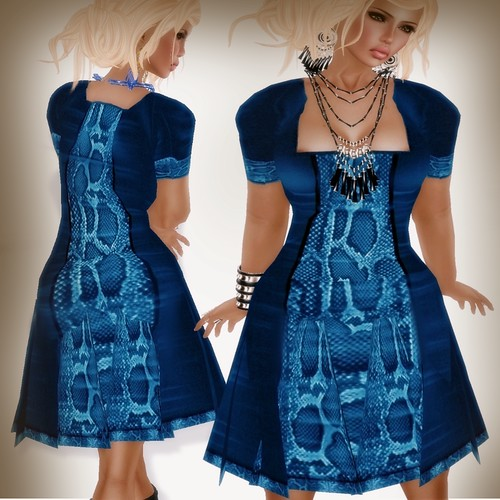 A&A Fashion Eve Dres blue