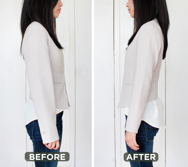 How to find a blazer jacket that fits alterations needed for Cost to tailor a shirt