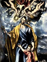El Greco (1600), San José y el Niño Jesús