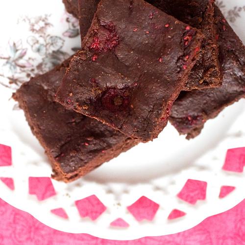 Raspberry Truffle Brownies | Post Punk Kitchen | Vegan Baking & Vegan ...