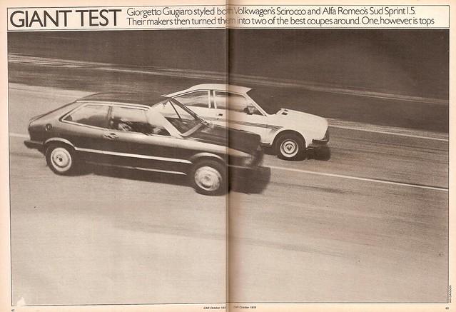 Alfa Romeo Alfasud Sprint 1.5 & Volkswagen Scirocco GLS 1978 (1 ...
