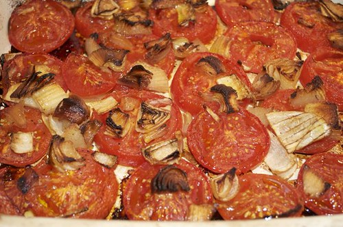 tomatoes/roasted with onions