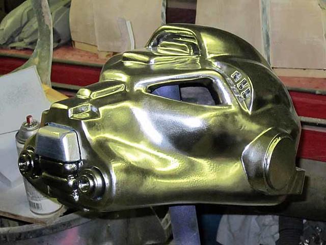 SM Terminator Helmet Shiny Chrome