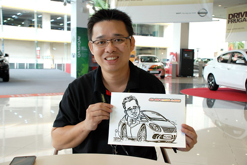 Caricature live sketching for Tan Chong Nissan Motor Almera Soft Launch - Day 4 - 4