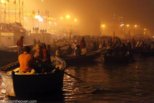 Foggy Ghat at night