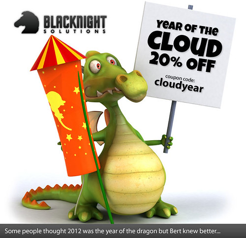 Bert - Year of the Dragon cloud hosting by blacknight