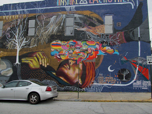 Decatur blue mural