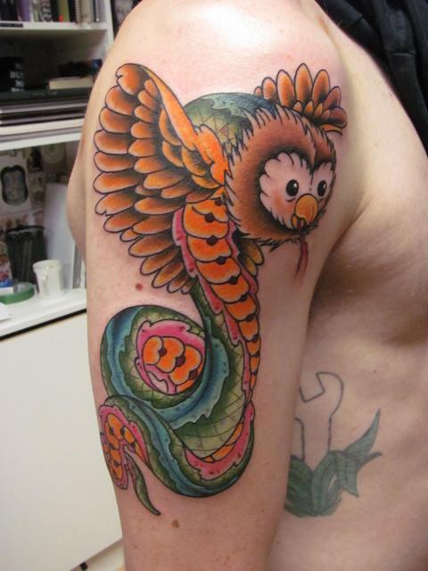 owl/snake