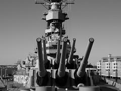 USS Wisconsin B&W