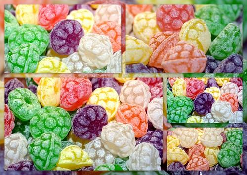 Unos caramelos de colores