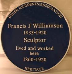 Photo of Francis James Williamson blue plaque