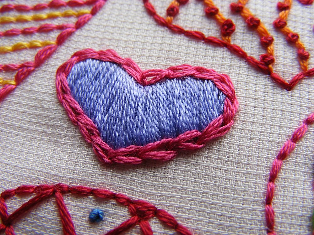 Hearts Sampler Embroidery Pattern Detail 1 My Favorite Hea Flickr