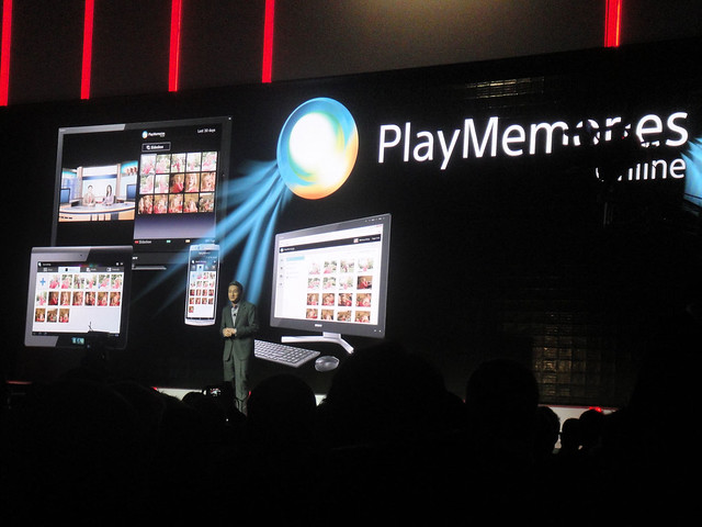 CES 2012 - Sony press event - PlayMemories Online