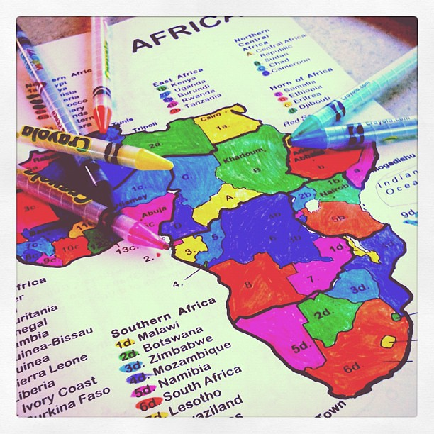 Day 26 Geography #homeschool work #janphotoaday #365 #thebloomforum #color