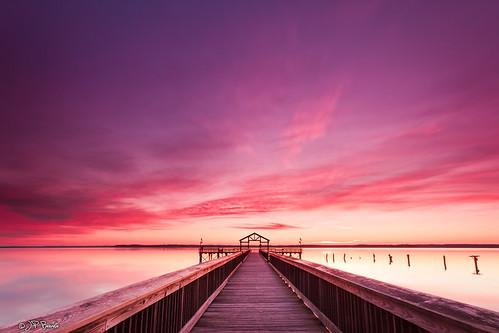 longexposure blue winter red orange clouds sunrise virginia pier purple horizon shoreline maryland pylons potomacriver messageinabottle leesylvaniastatepark reggattadeblanc