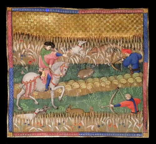 """""""Comment on peut tirer les lièvres"""" (Livre de chasse, Musée national du Moyen Âge)"""