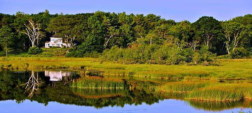 house reflections pond maine sunflower grasses wetland pjddigipic nearyorkmaine