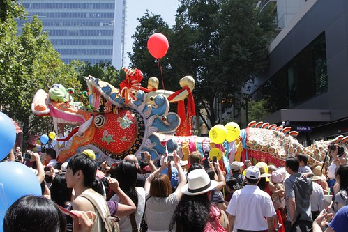 Dai Loong dragon at the Melbourne Chinese New Year Festival