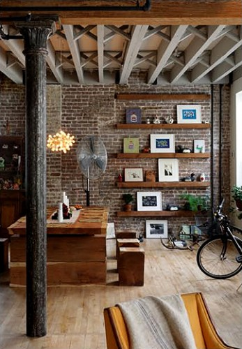 rough-brick-decor-modern-dining-area-loft-interior6-347x500