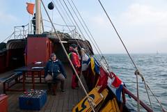 Op het startschip