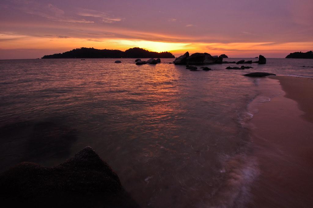 Sunset at Pasir Bogak 日落在邦咯后 ...
