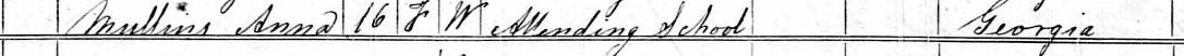 Anna Mullin 1870 Census