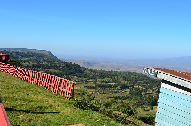 Rift Valley, red Fence, Blue Toilets