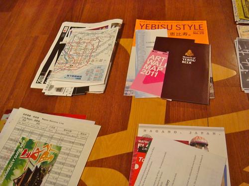 After Japan trip 2011 - Tourism materials.