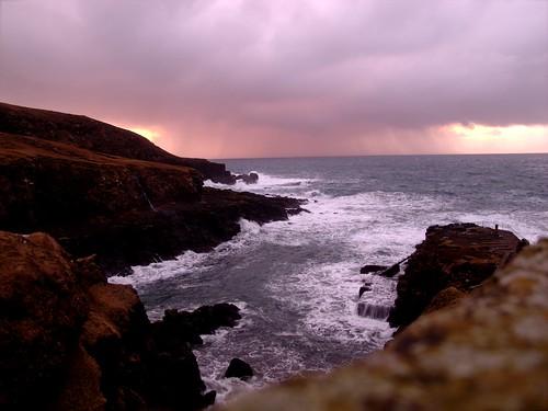 ocean winter sunset sea canon rocks cliffs faroeislands g12 northatlantic hvalba canong12 powershotg12