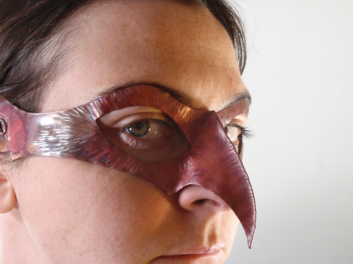 copper bird mask