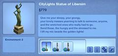 CityLights Statue of Libersim